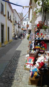 straatje in Óbidos Portugal